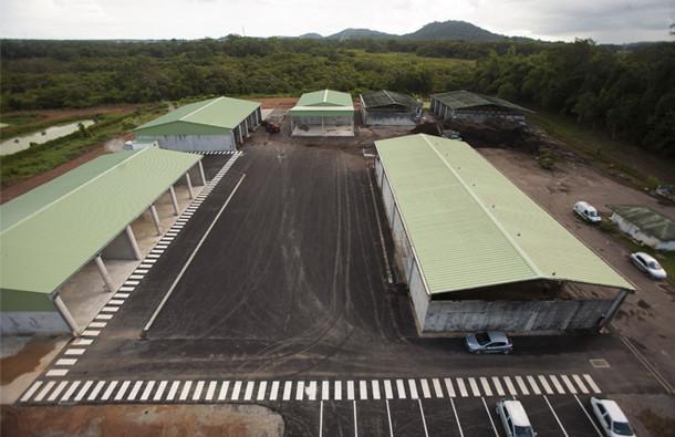 La plateforme de compostage à Matoury