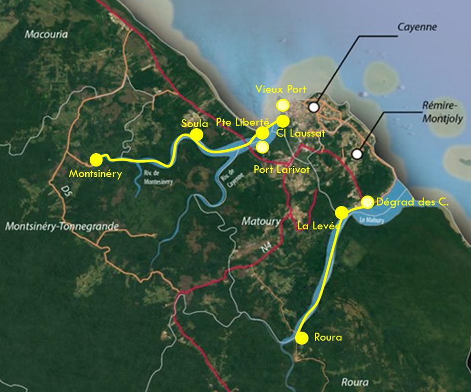 Navettes fluviales mars 2021